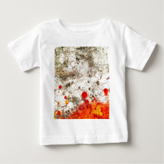 Bold & Chic Wood Red Yellow Watercolor Abstract Baby T-Shirt