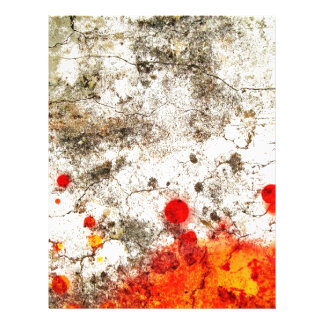 Bold & Chic Wood Red Yellow Watercolor Abstract Letterhead