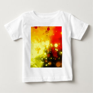 Bold & Chic Yellow and Red Watercolor Abstract Baby T-Shirt