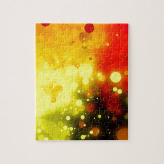 Bold & Chic Yellow and Red Watercolor Abstract Puzzles