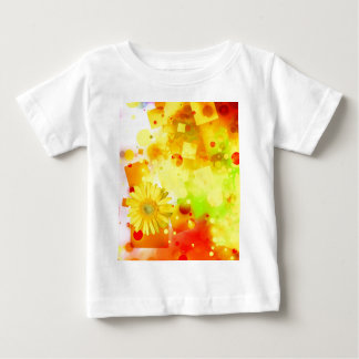 Bold & Chic Yellow Flower Watercolor Abstract Baby T-Shirt