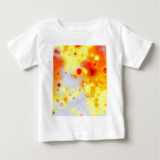 Bold & Chic Yellow Red Orange Watercolor Abstract Baby T-Shirt