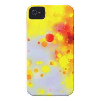 Bold & Chic Yellow Red Orange Watercolor Abstract Case-Mate iPhone 4 Cases