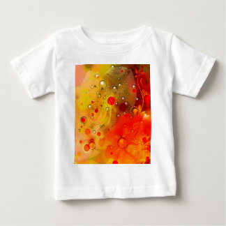 Bold & Chic Yellow Rose Red Watercolor Abstract Baby T-Shirt