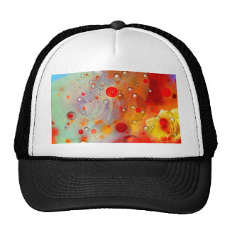 Bold & Chic Yellow Rose Red Watercolor Abstract Trucker Hat