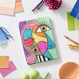 Bold Colorful Abstract Cubism Modern Color Block iPad Pro Cover