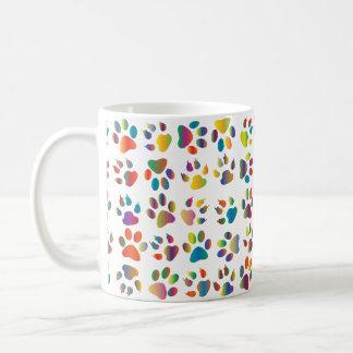 Bold Colorful Cat Paw Print Mug