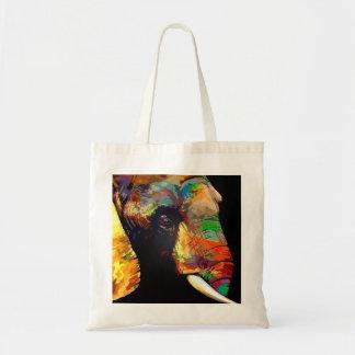 Bold Colorful Elephant Head Portrait