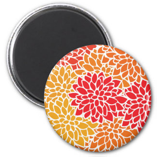 Bold Colorful Flower Modern Bright Magnet