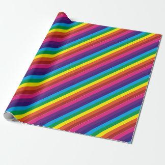 Bold Colorful Rainbow Stripes Pattern