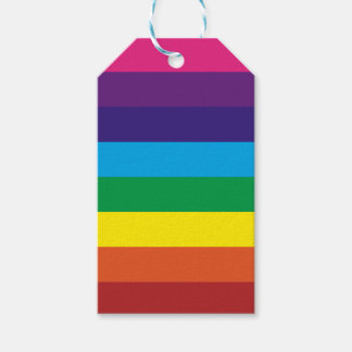 Bold Colorful Rainbow Stripes Pattern Gift Tags