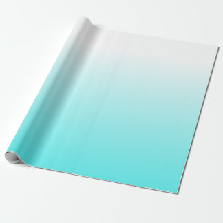 Bold Colorful White to Blue Ombre Gradient Wrapping Paper
