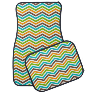 Bold Colors Chevron Stripe Car Mats Floor Mat