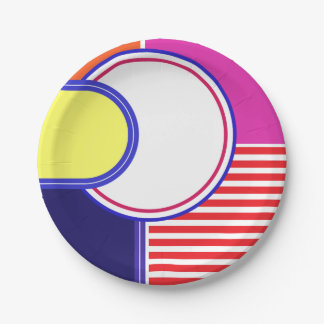 Bold colors, fine graphic design paper plate