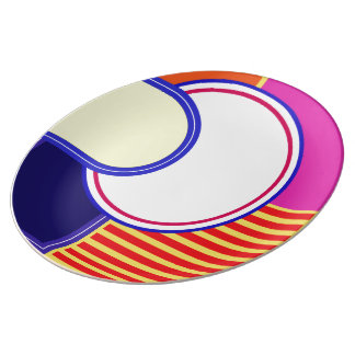 Bold colors, fine graphic design plate