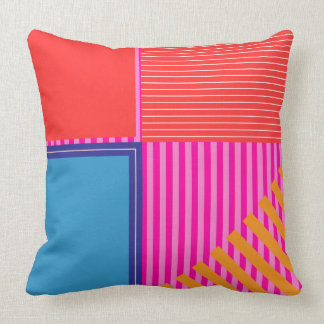 Bold colors, fine graphic design throw pillow