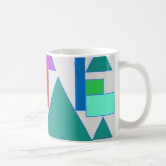 Bold coloured abstract design coffee mug