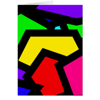 Bold colourful abstract card