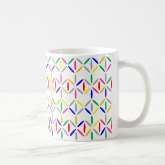 Bold colourful diamond stripe mug