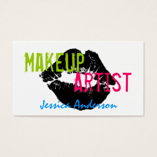 Bold & Colourful Makeup Artist Business Card