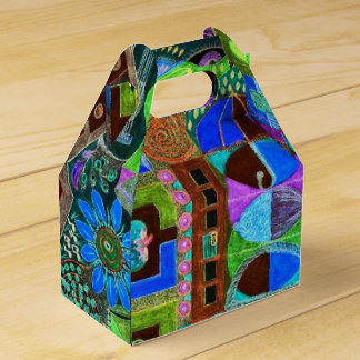 Bold & Colourful Mosaic of Shapes Party Favor Box