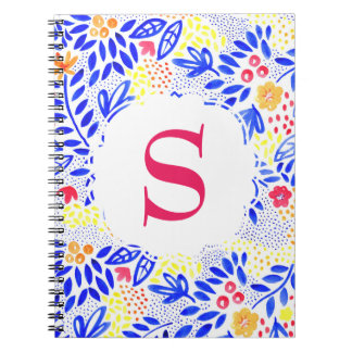 Bold Colourful Personalised Blue Spiral Notebook
