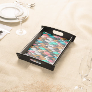 Bold Contemporary Abstract Serving Trays