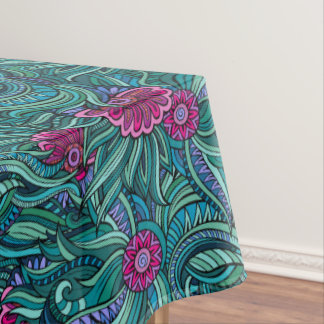 Bold Contemporary Floral Tablecloth