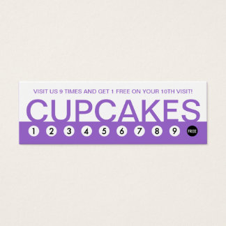 bold CUPCAKES customer loyalty Mini Business Card