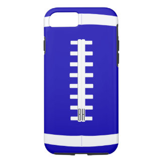 Bold Custom Team Color & Letters Football Player iPhone 8/7 Case