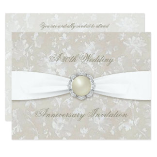 Bold Damask 30th Wedding Anniversary Invite