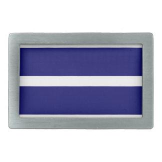 Bold Dark Blue Stripes Belt Buckle