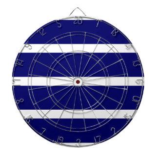 Bold Dark Blue Stripes Dartboard
