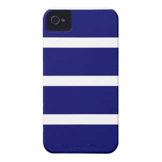 Bold Dark Blue Stripes iPhone 4 Case