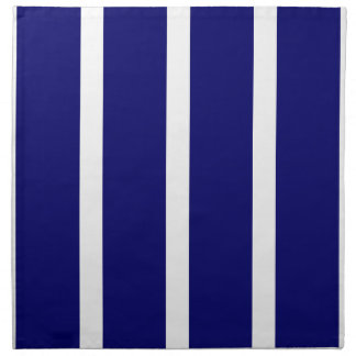 Bold Dark Blue Stripes Napkin