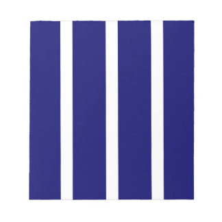 Bold Dark Blue Stripes Notepad
