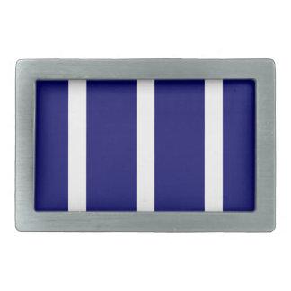 Bold Dark Blue Stripes Rectangular Belt Buckles
