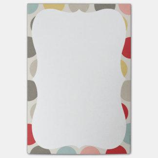 Bold Dot Colorful Pastel Circles Polka Dot Print Post-it Notes