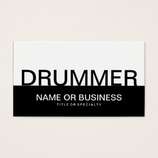 bold DRUMMER Business Card
