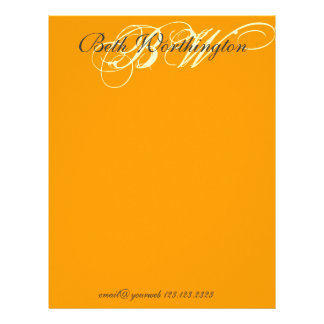 Bold Elegant Monogrammed Letterhead