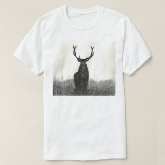 Bold Elk Stag Art White Mens T-Shirt