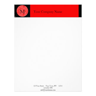 Bold Expressions in Red and Black Letterhead