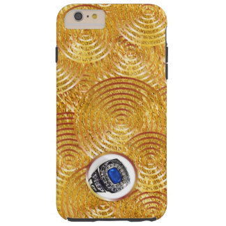 Bold faux gold splash with window tough iPhone 6 plus case