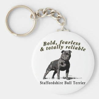 Bold, Fearless & Totally Reliable Basic Round Button Keychain