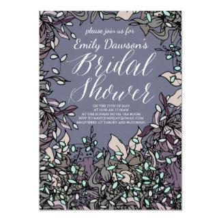 Bold Floral Bridal Shower Design Card