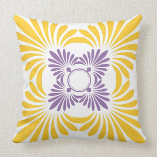 Bold Floral Pattern-Contemporary Throw Pillow