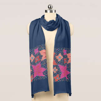 Bold  Floral Pattern Scarf
