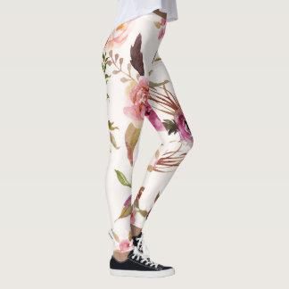 Bold floral print leggings