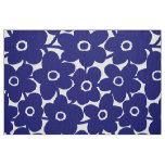 Bold Flowers - Deep Navy Blue Fabric