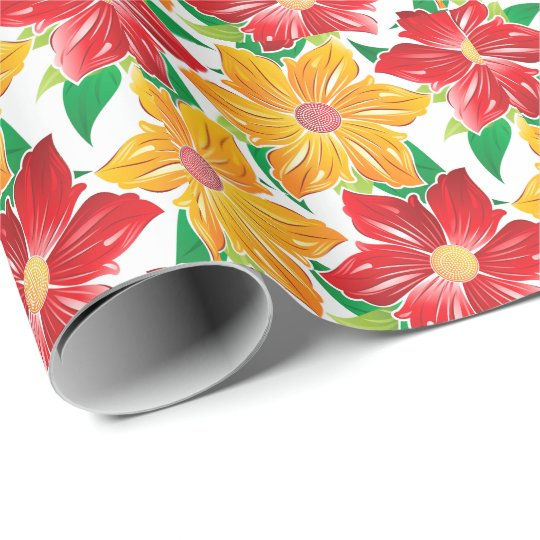 Bold Flowers Wrapping Paper